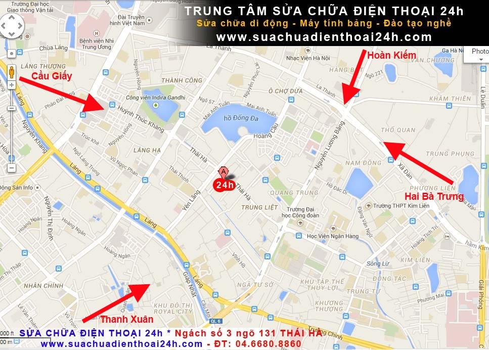 Bản đồ ngách 3 ngõ 131 Thái Hà